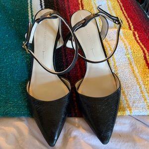 Banana Republic black leather kitten heels